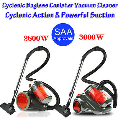 2800W & 3000W Bagless Cyclone Cyclonic Vacuum Cleaner Filtration System Floor AU