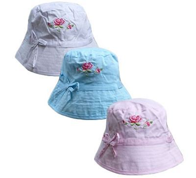 Girls Jelly Beans Infant/Baby Summer Embroided Hat