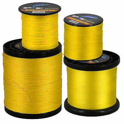 Super Strong Yellow PE Dyneema Spectra braided Sea Fishing Line Tackle 300-2000M