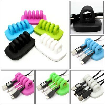 Desk Tidy Organiser Cable Drop Clip Wire Cord Lead USB Charger Holder Fixer