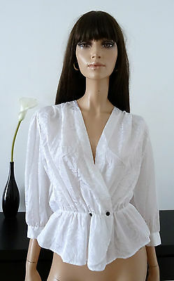 Chemisier vintage blanc taille 38 / Made in France