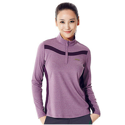 Women T-shirt Sport Quick-dry Breathable Long Sleeve Polo Shirt NH15S008-P