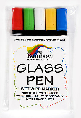 Glass Pen - For Writing And Wiping Away On Glass Windows & Mirrors - Waterbased