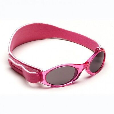 Girls Baby Banz 0-2yrs Oval Hot Pink Adventurer Sunglasses 100% UVA Protection