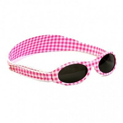 Girls Baby Banz 0-2yrs Pink Gingham Adventurer Sunglasses 100% UVA Protection