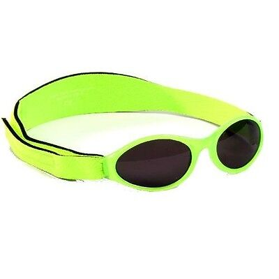 Baby Banz 0-2yr Boys Lime Green Oval Adventurer Sunglasses 100% UVA Protection