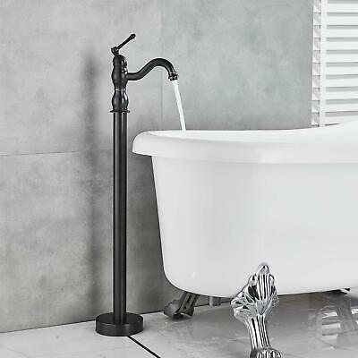 Oil Rubbed Bronze Bathtub Faucet Free Standing Tub Filler Hot Cold Mixer Tap