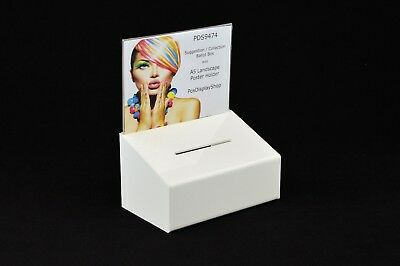 Suggestion / Collection Box with A5 Landscape Poster Holder - PDS9474 A5L
