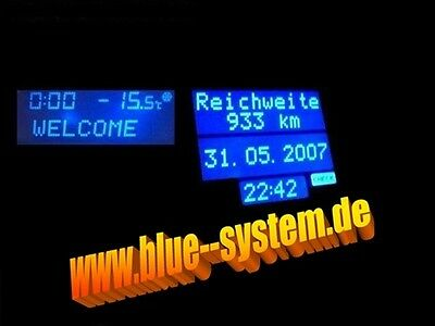 MID Multi Info Display Bordcomputer BLAU OPEL VECTRA B KEIN LÖTEN TACHO
