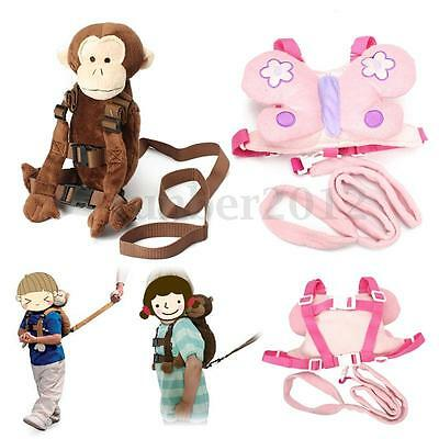 Baby Kid Toddler Walking Safety Harness Strap Cosplay Backpack Reins Leash Bag