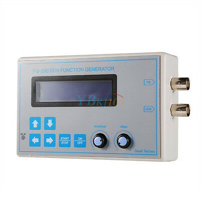 DDS Function Signal Generator Square Sawtooth Triangle Sine Wave Touch Button AA