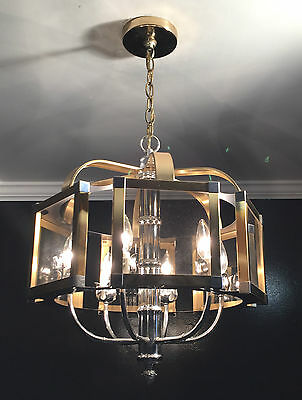 Antique mid century modern orginal Fredrick Ramond light fixture chandelier