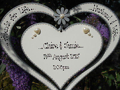 💕Personalised Wedding Heart, Anniversary, Table centre, plaque,sign,chic 💕