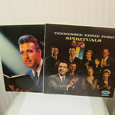 Tennessee Ernie Ford Christian Hymns & Spirituals 2 Lps Vinyl Capitol T 756 & T