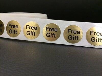 """250 FREE GIFT 7/8"""" Stickers/labels GOLD FOIL FREE GIFT STICKER NEW CRAFT CIRCLE"""
