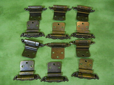 Vintage Cabinet door Hinges lot of 12pc.  National Lock Company G8020
