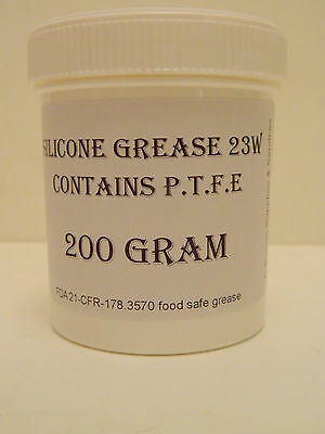 200g Silicone Grease - PTFE / Teflon White FDA APPROVED FOOD SAFE