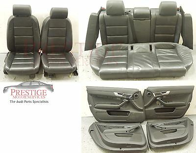 Audi A6 C6 Avant Black Leather Interior With Door Cards  #2
