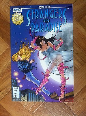 Strangers In Paradise #1 Terry Moore Homage Comics Very Fine/near Mint (F53)