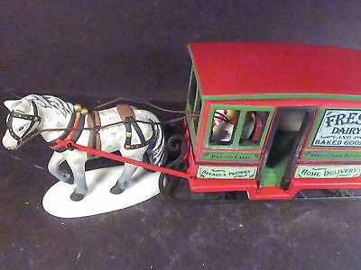 Dept 56 New England Village Accessories DAIRY DELIVERY SLEIGH #6263810 Horse