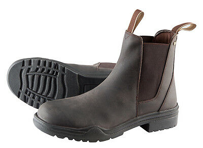 Adults Steel Toe Cap Jodhpur Boots Horse Riding Brown Real Leather All Sizes.