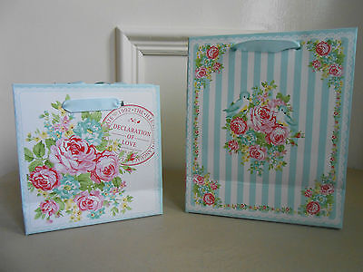 Gorgeous 'LOVEBIRDS' Gift Bag in Large or Small by GreenGate DK