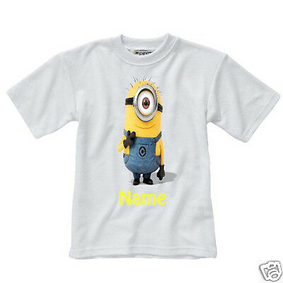 Personalised Children's T-Shirt - Minions - Named - Style 1