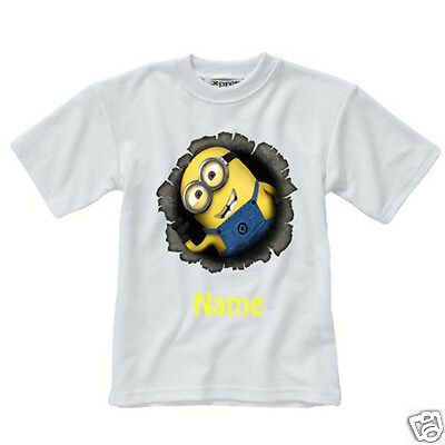 Personalised Children's T-Shirt - Minions - Named - Style 3