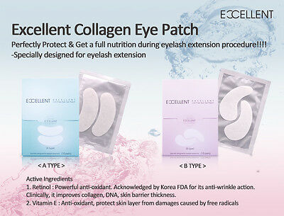 Excellent Lint Free Eye Gel Patches A, B Type - Eyelash Extensions