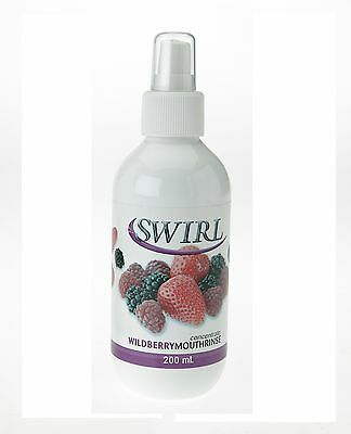 Dentalife Swirl Mouthrinse Concentrate Wash WILD BERRY 200ml Alcohol Free Dental