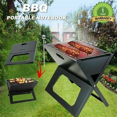 Outdoor Portable Notebook Grill BBQ Foldable Folding Charcoal Camping Barbecue