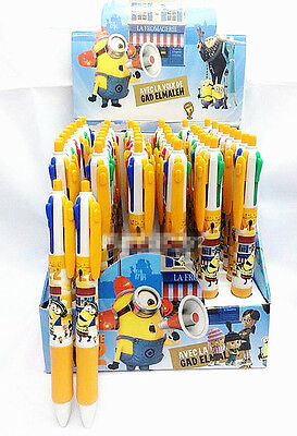 1 x 4 / 8 Color Minions Pen Ball-point Black 0.5 mm Kids' Stationery Toys Gift