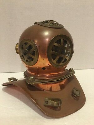 "VTG Copper & Brass 7"" Divers Helmet mask (US Navy Diving) replica"
