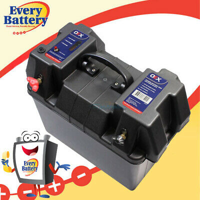 Oex Battery Box Agm Deep Cycle Up 2 130Ah Dual System 12V 100Ah Led
