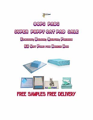 "Oops Pads PUPPY Pads Asst'd Sizes & Generic Cat Litter Box Pads 16 x 11"" Trays"
