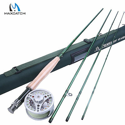 5WT Fly Rod 9FT and Pre-spooled Reel Aluminium & Fly Line