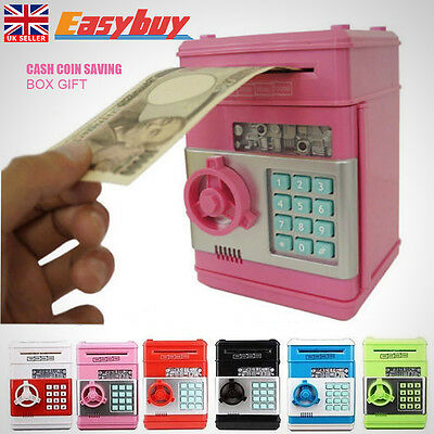 Coin Note Counter Atm Bank Cash Machine Saving Money Box Gift Piggy Bank Safe