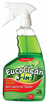 Eucoclean 3in1 Eucalyptus Anti-Bacterial Spray 750mL x 6 bottles - FREE SHIPPING