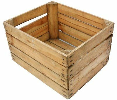 European Vintage Wooden Apple Fruit Crates Rustic Old Bushel Box Shabby Chic....