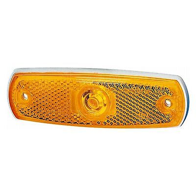 Side Marker Lamp Flush Fit Amber Lens 12v | HELLA 2PS 962 964-031
