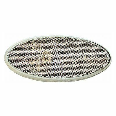 Rear Reflector: Self adhesive Oval Reflector Clear | HELLA 8RA 343 160-017
