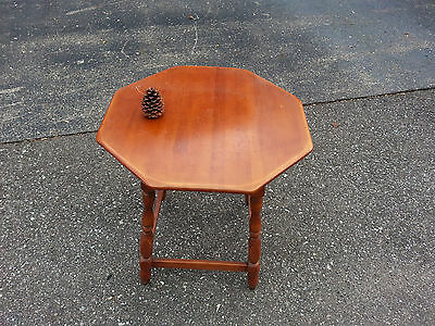 Vintage 1940's Octagonal Solid Maple End Table!