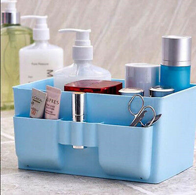 Stationery Decor Case DIY Cosmetic Storage Box Organizer Makeup Plastic Desk