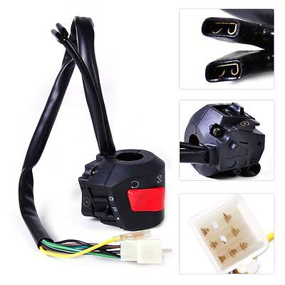 """7/8"""" Handlebar Ignition Electric Start Headlight on/off Switch for Motorcycle"""