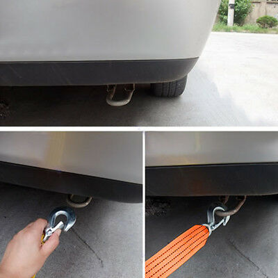 4M 5 Ton Car Tow Cable Heavy Duty Towing Pull Rope Strap Hooks Van Road Recovery