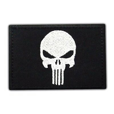 PUNISHER US Black Flag Seals Morale Tactical Army Embroidered Iron On Hat  Patch 4d3f278a567