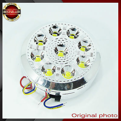 1x 9 LED 12V Car Round Ceiling Dome Roof Interior Light Lamp on/off switch EQ