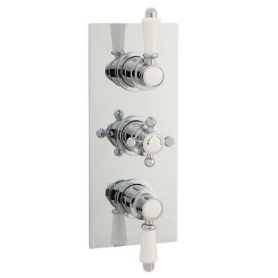 Premier Triple Traditional Concealed Thermostatic Shower Valve