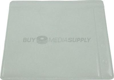 Non woven White Plastic Sleeve CD/DVD Double-sided Style #2 - 10 Pack