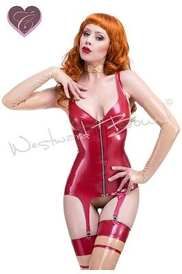 R0397 RUBBER LATEX Red Label Corset *Red or Black* Last Few SECONDS RRP £115.00